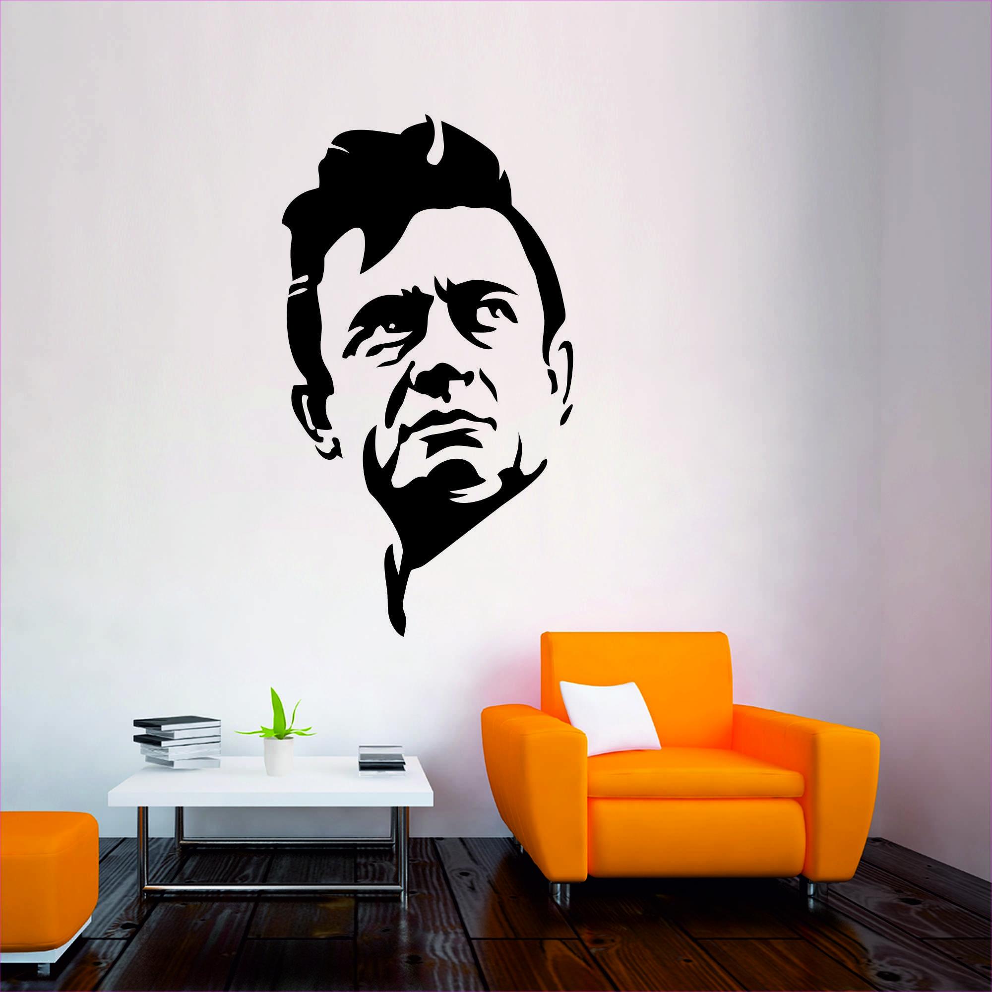 Samolepka na zeď - Johnny Cash - 32x60 cm - PopyDesign