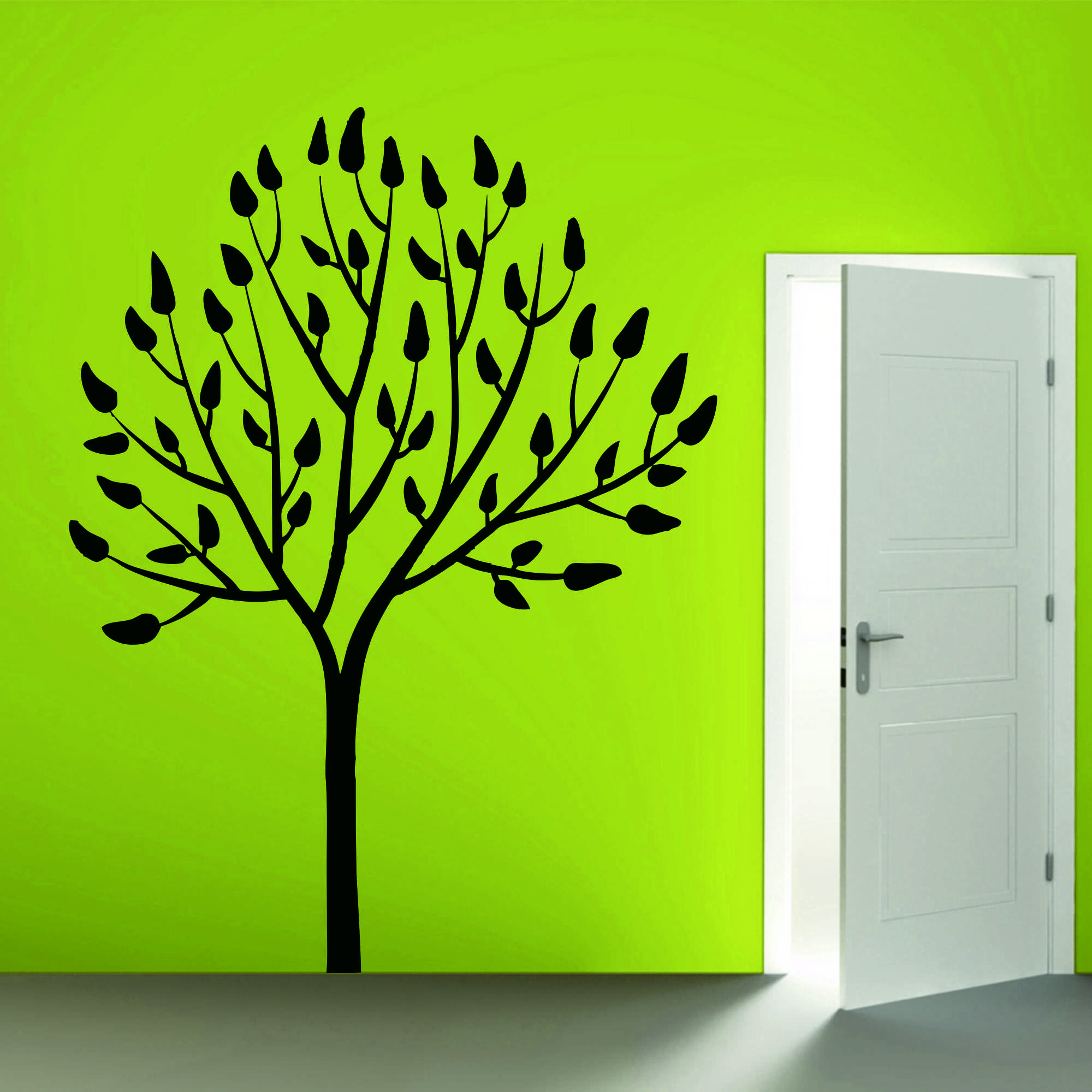 Samolepka na zeď - Strom s listy - 45x60 cm - PopyDesign