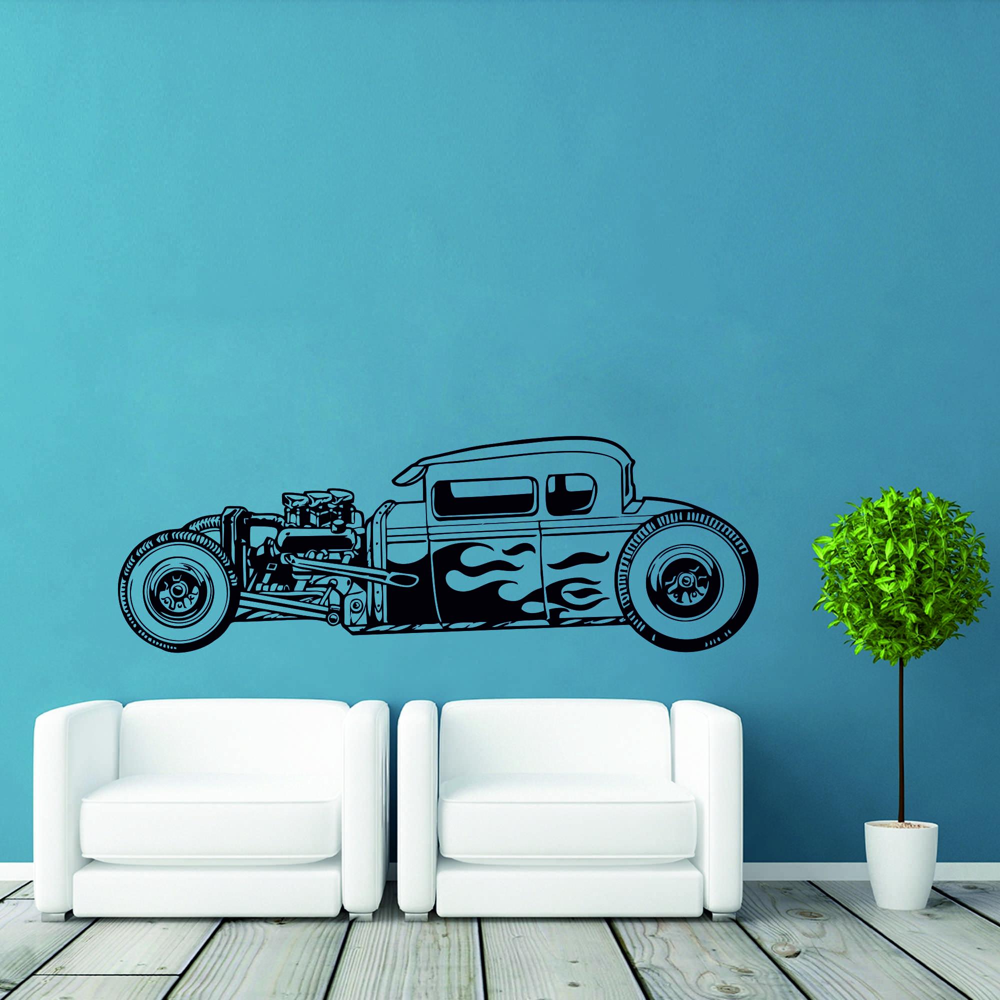 Samolepka na zeď - Hot Rod - 60x20 cm - PopyDesign