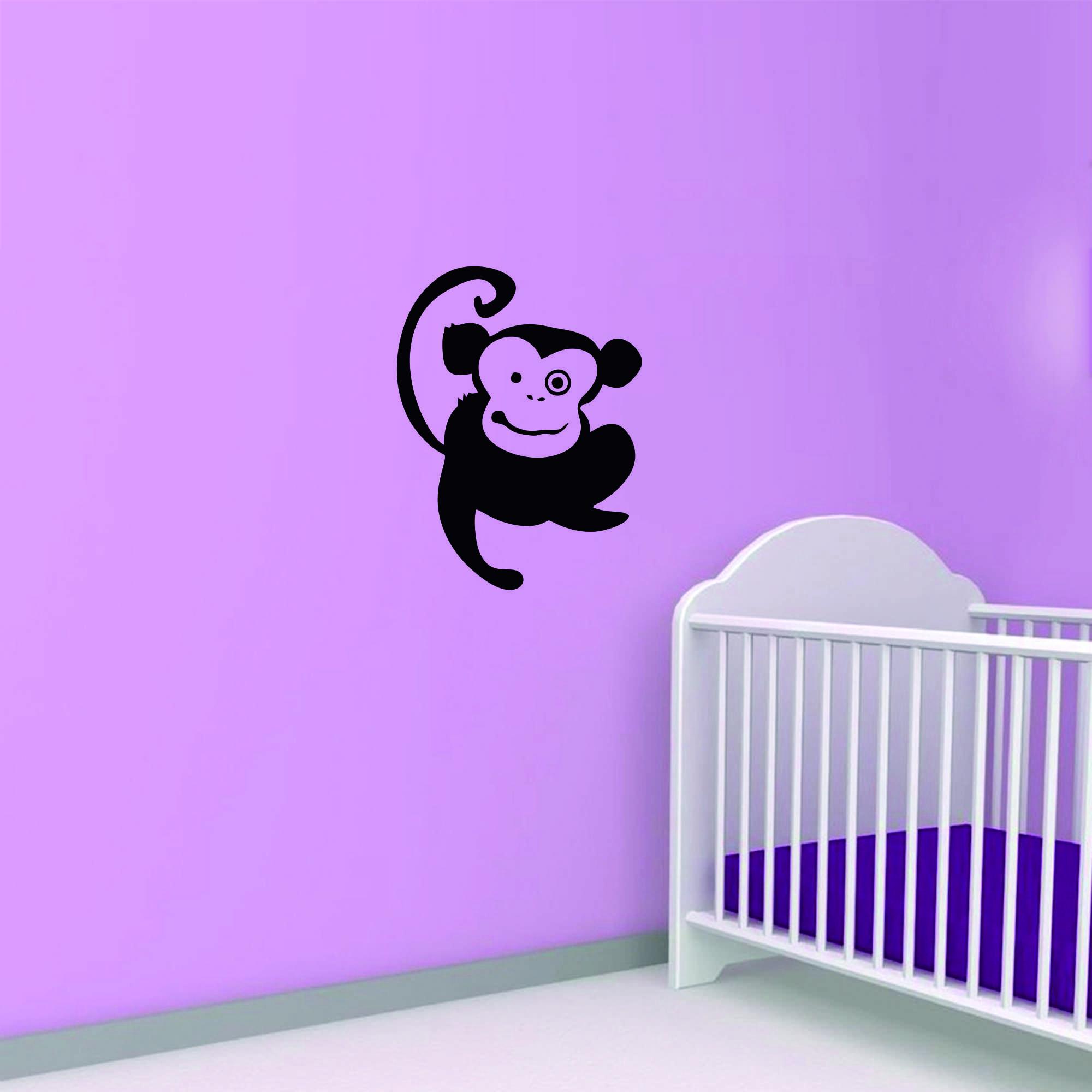 Samolepka na zeď - Opička - 30x40 cm - PopyDesign