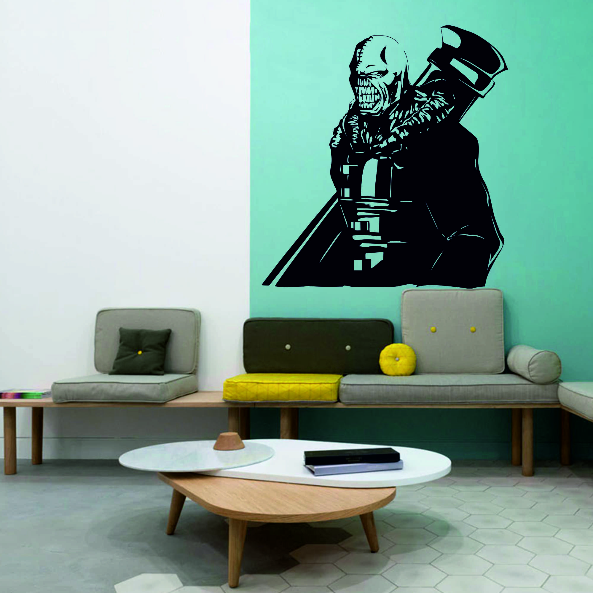 Samolepka na zeď - Nemesis Residen Evil - 56x60 cm - PopyDesign