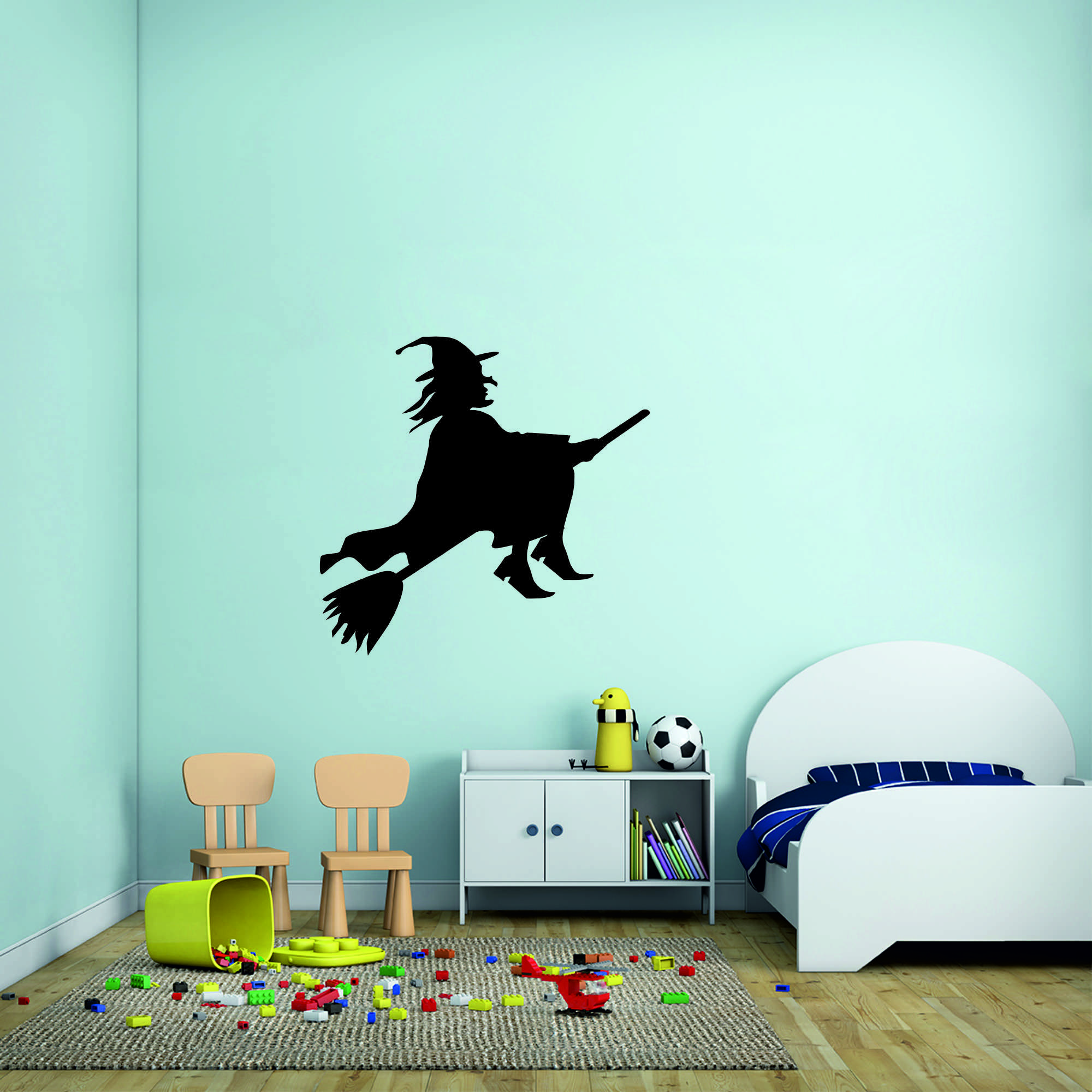 Samolepka na zeď - Čarodějnice - 95x92 cm - PopyDesign