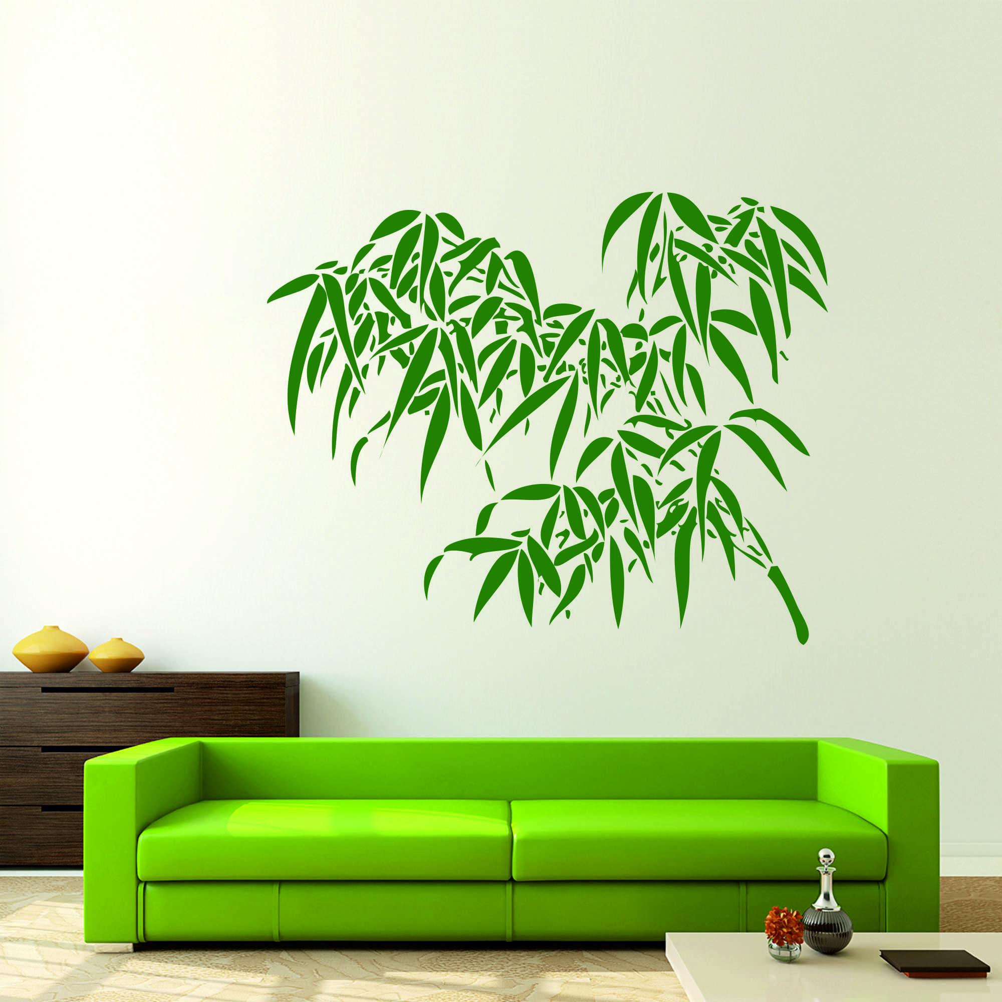 Samolepka na zeď - Bambusová větvička - 60x48 cm - PopyDesign