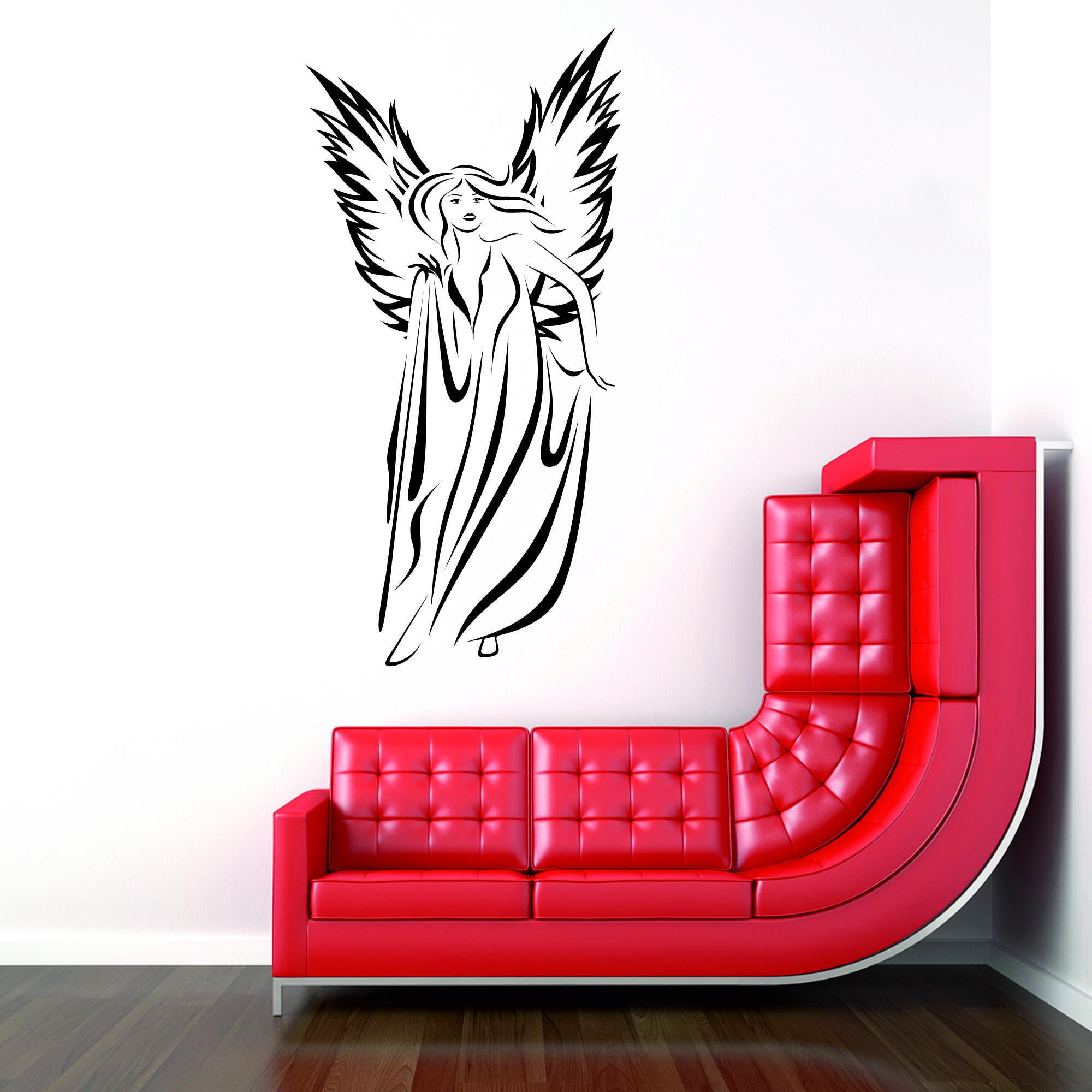Samolepka na zeď - Anděl - 30x60 cm - PopyDesign