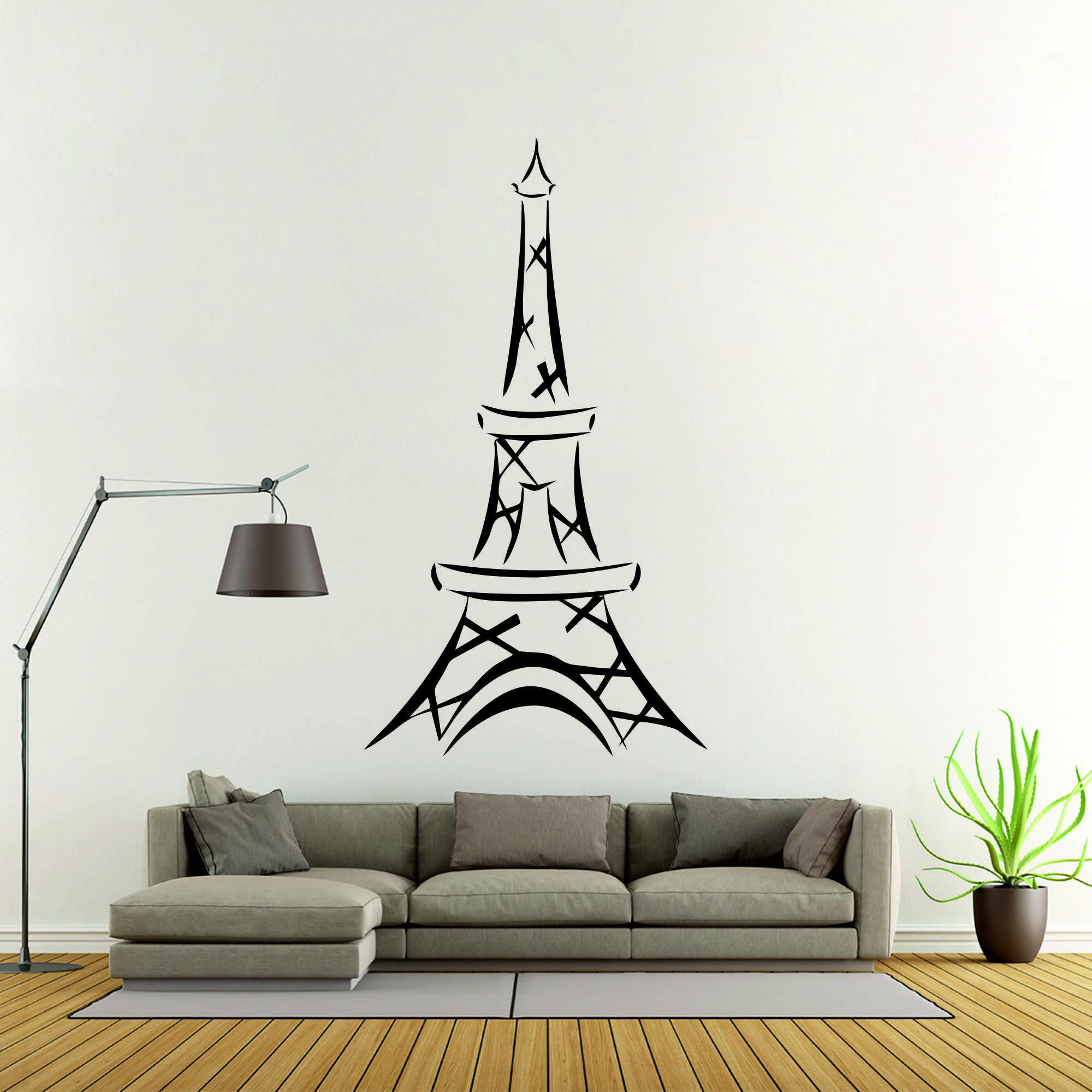 Samolepka na zeď - Eiffelova věž - 34x60 cm - PopyDesign