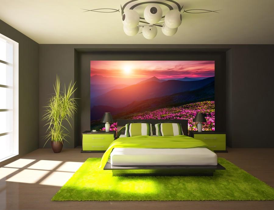 Tapeta - Horská louka - 120x102 cm - PopyDesign