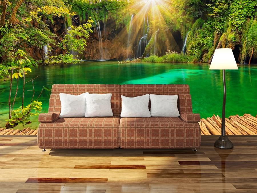 Tapeta - Zelené jezírko - 120x80 cm - PopyDesign