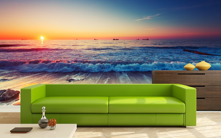 Tapeta - Moře při západu - 120x80 cm - PopyDesign