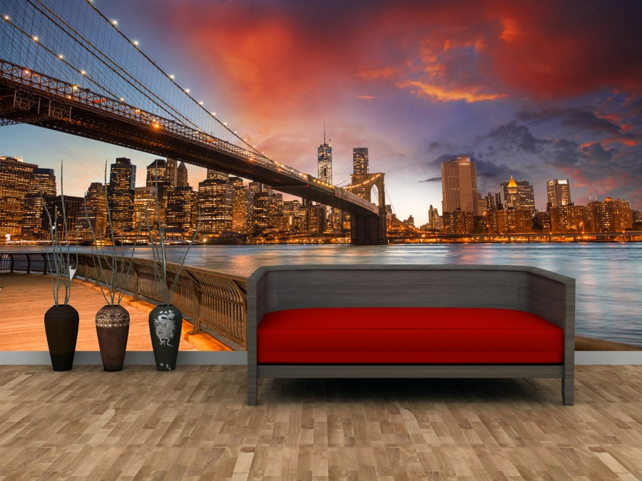 Tapeta - Brooklyn bridge - 120x80 cm - PopyDesign