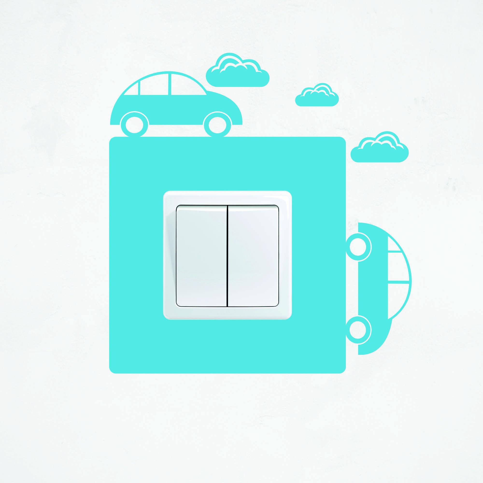 Samolepka na vypínač - Auta - PopyDesign