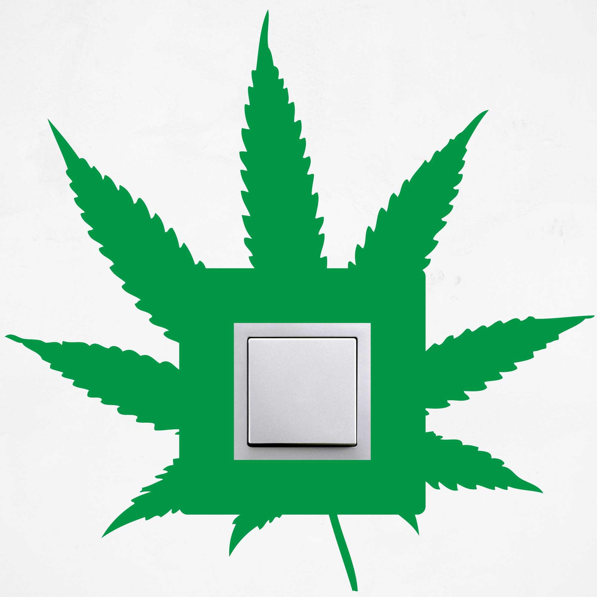 Samolepka na vypínač - Marihuana - PopyDesign