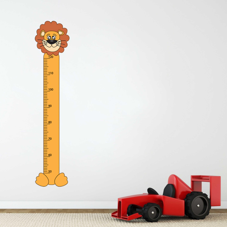 Samolepka na zeď - Dětský metr lev - PopyDesign