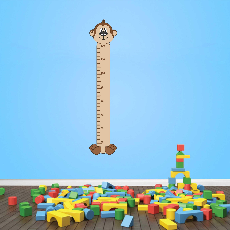 Samolepka na zeď - Dětský metr opička - PopyDesign