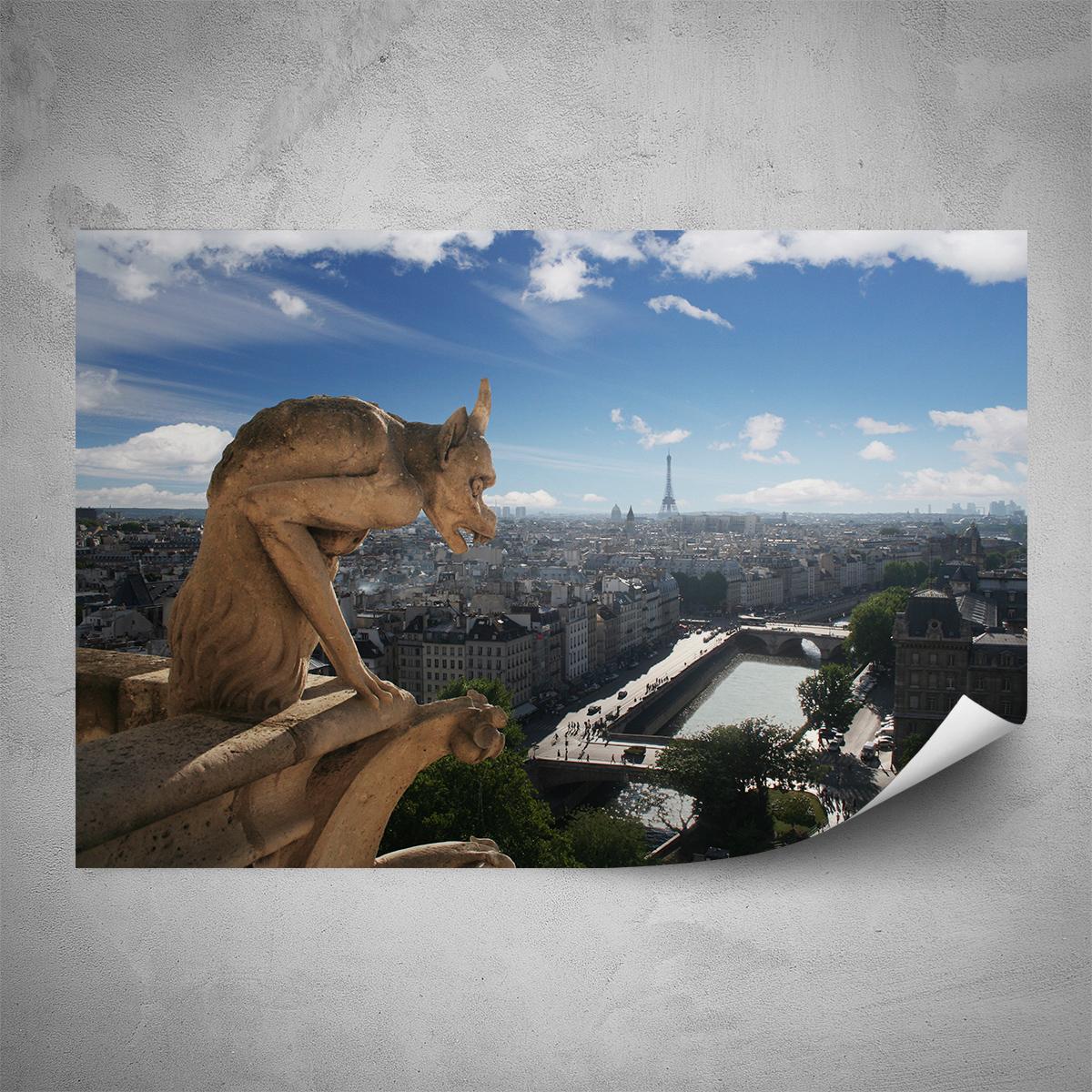 Plakát - Chrliče Notre Dame - 60x40 cm - PopyDesign