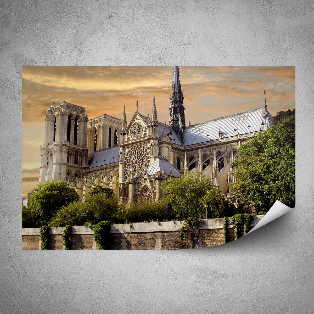 Plakát - Notre Dame - 60x40 cm - PopyDesign