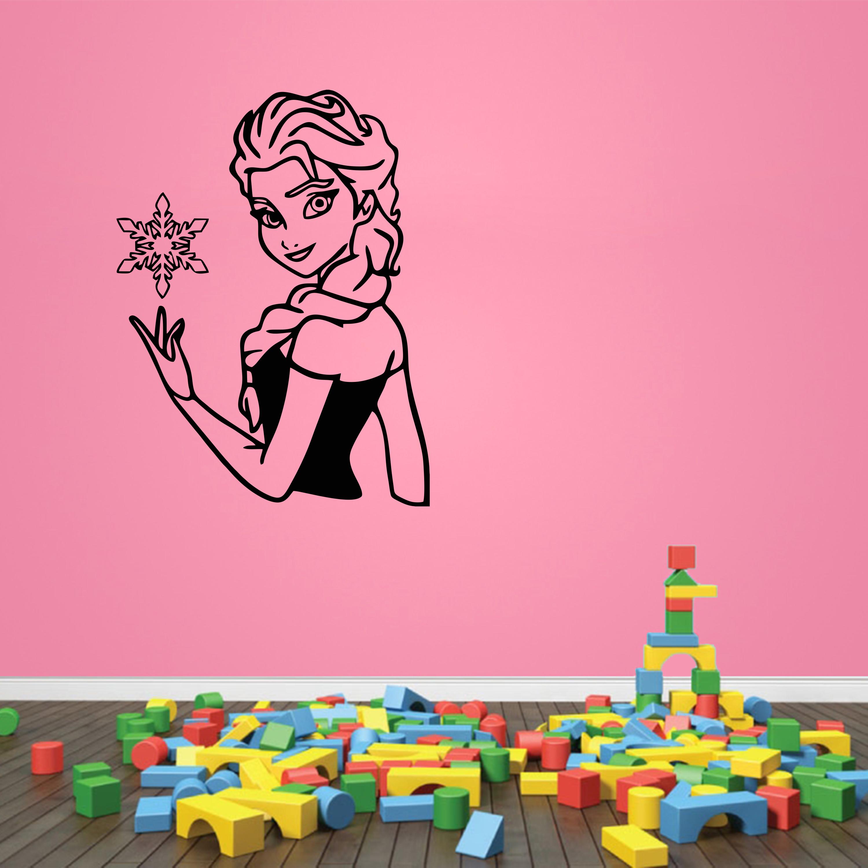 Samolepka na zeď - Ledové království Elsa - 70x95 cm - PopyDesign