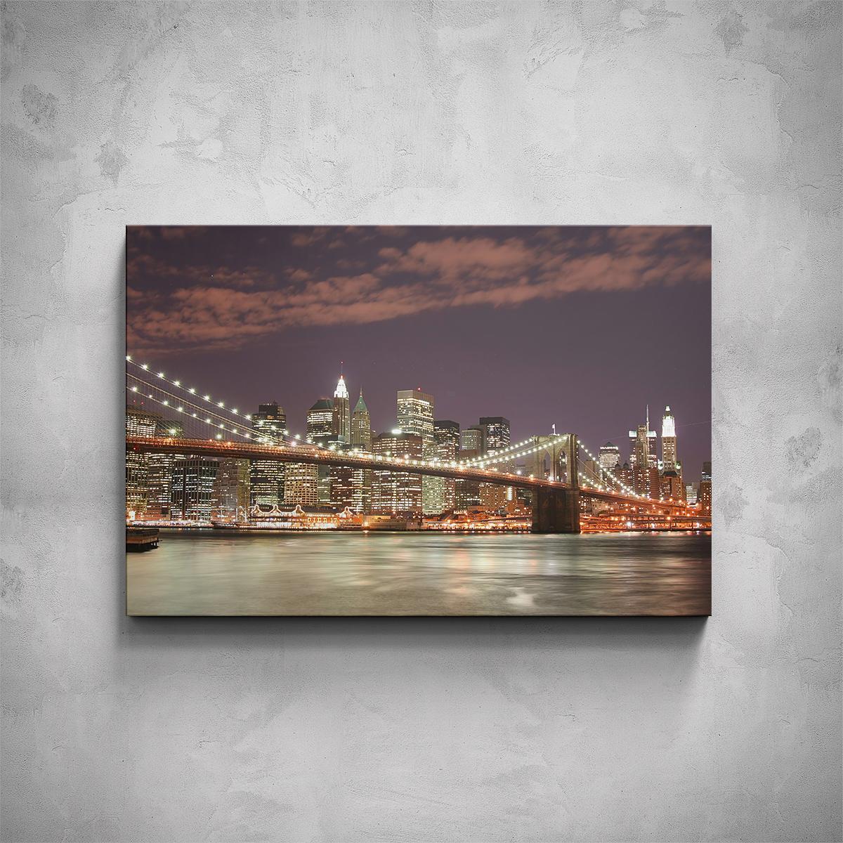Obraz - New York most Brooklyn Bridge - PopyDesign