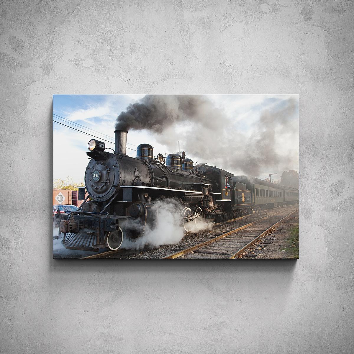 Obraz - Parní lokomotiva - PopyDesign