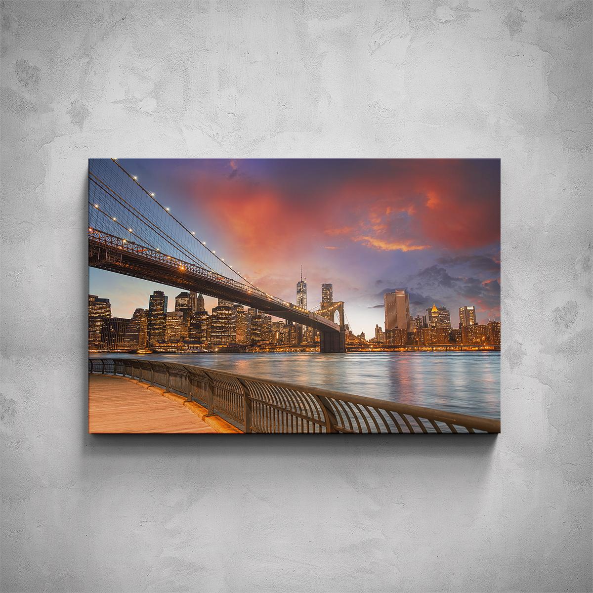 Obraz - New York nábřeží - PopyDesign
