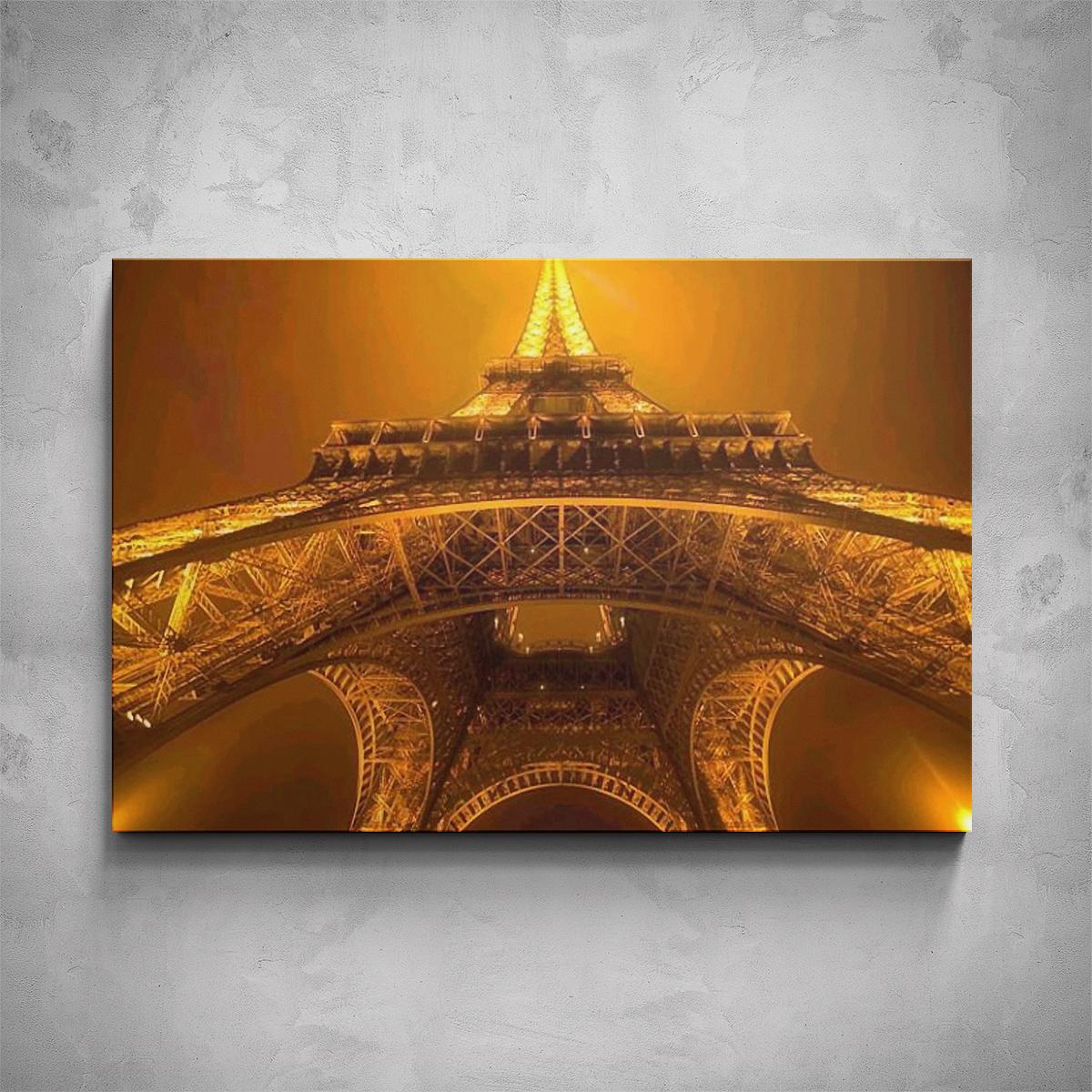 Obraz - Osvícená Eiffelova věž - PopyDesign