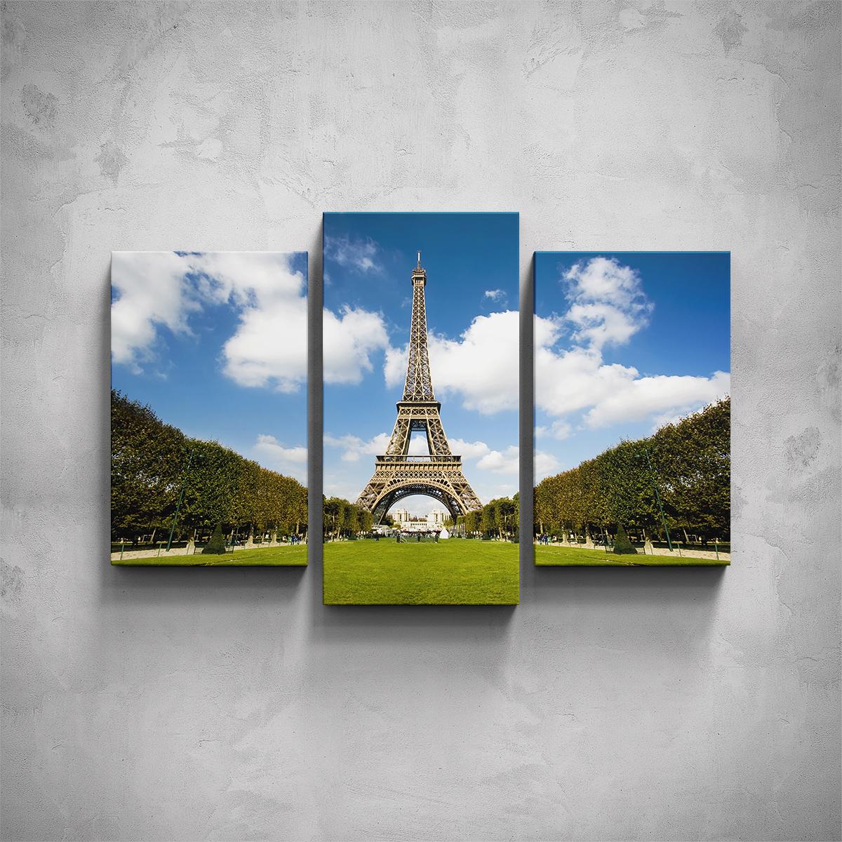 3-dílný obraz - Eiffelova věž - PopyDesign