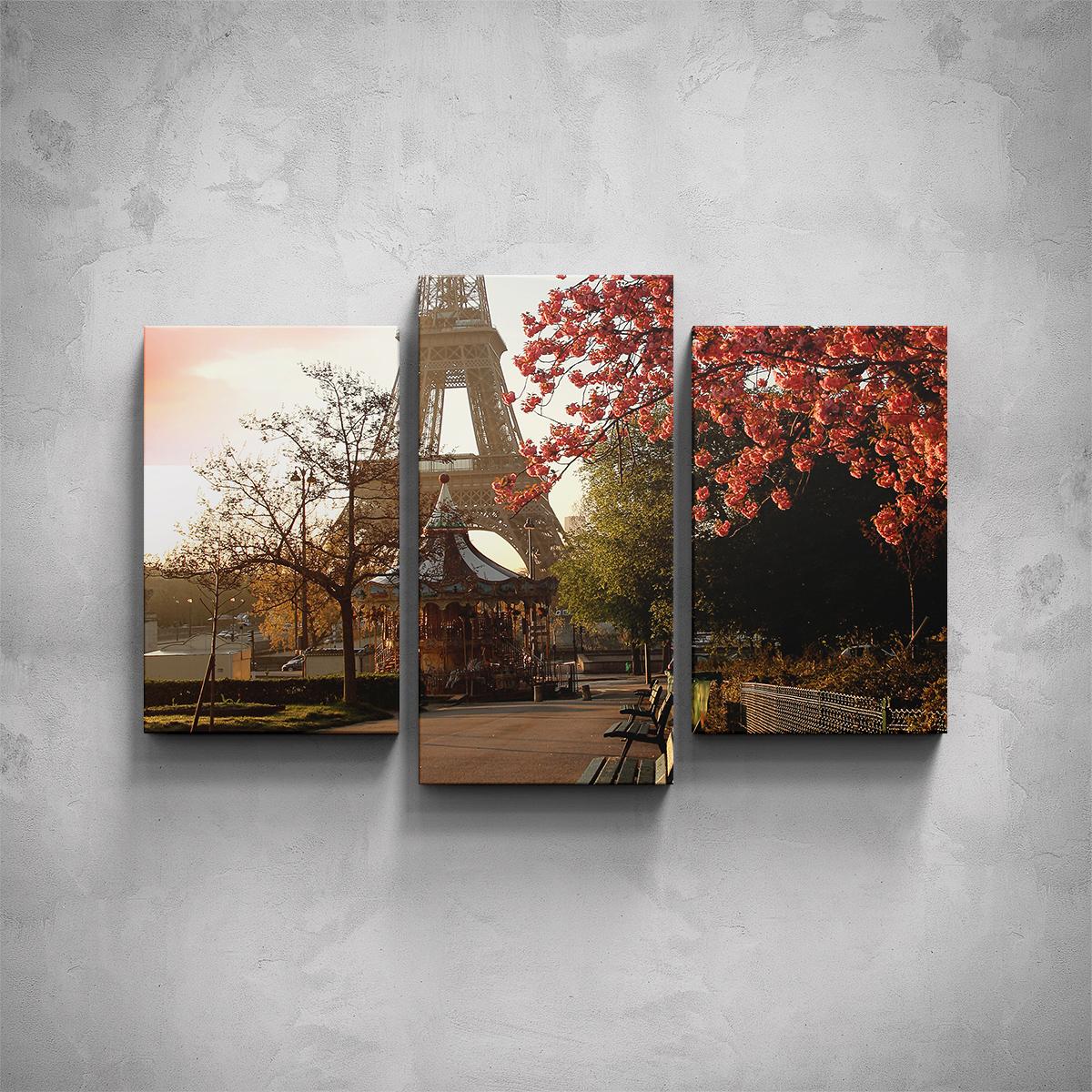 3-dílný obraz - Podzimní Eiffelova věž - PopyDesign