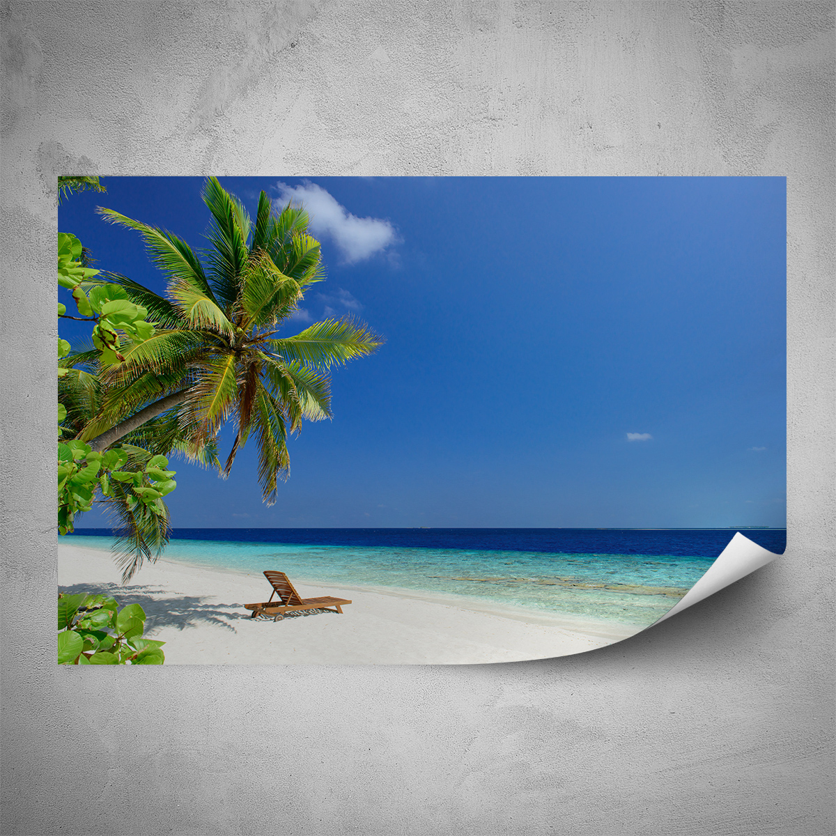 Plakát - Pláž Mauricius - 120x80 cm - PopyDesign
