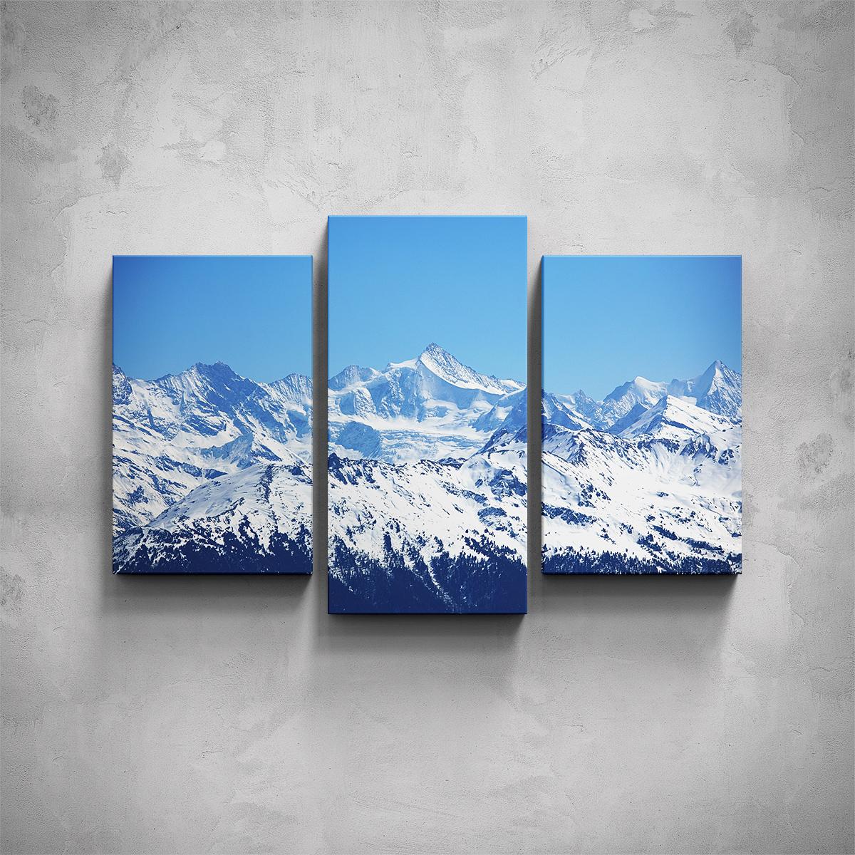3-dílný obraz - Hory - PopyDesign