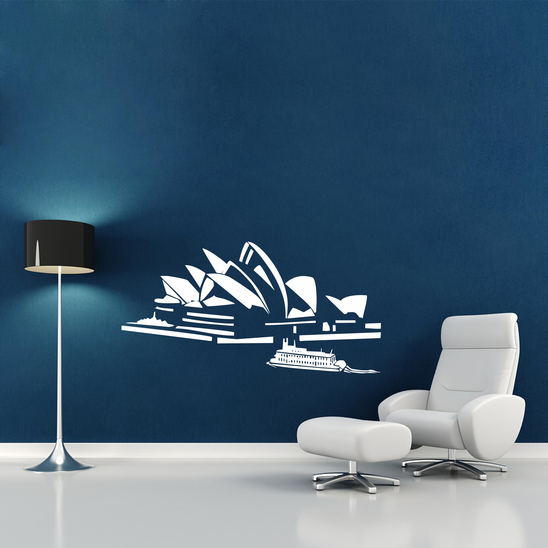 Samolepka na zeď - Opera v Sydney - 60x30 cm - PopyDesign