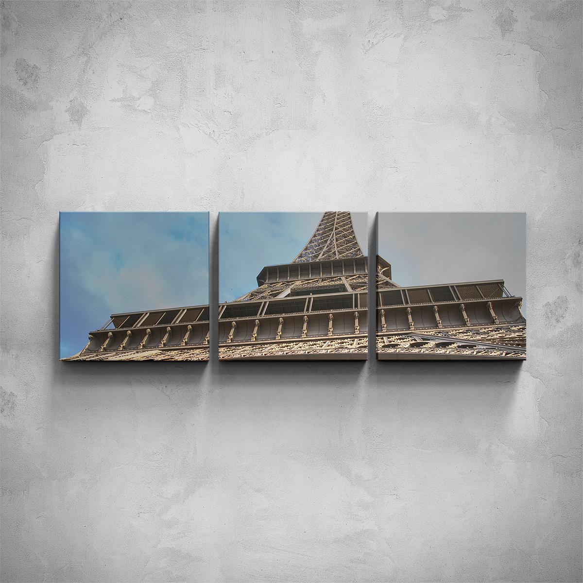 3-dílný obraz - Eiffelova věž detail - PopyDesign