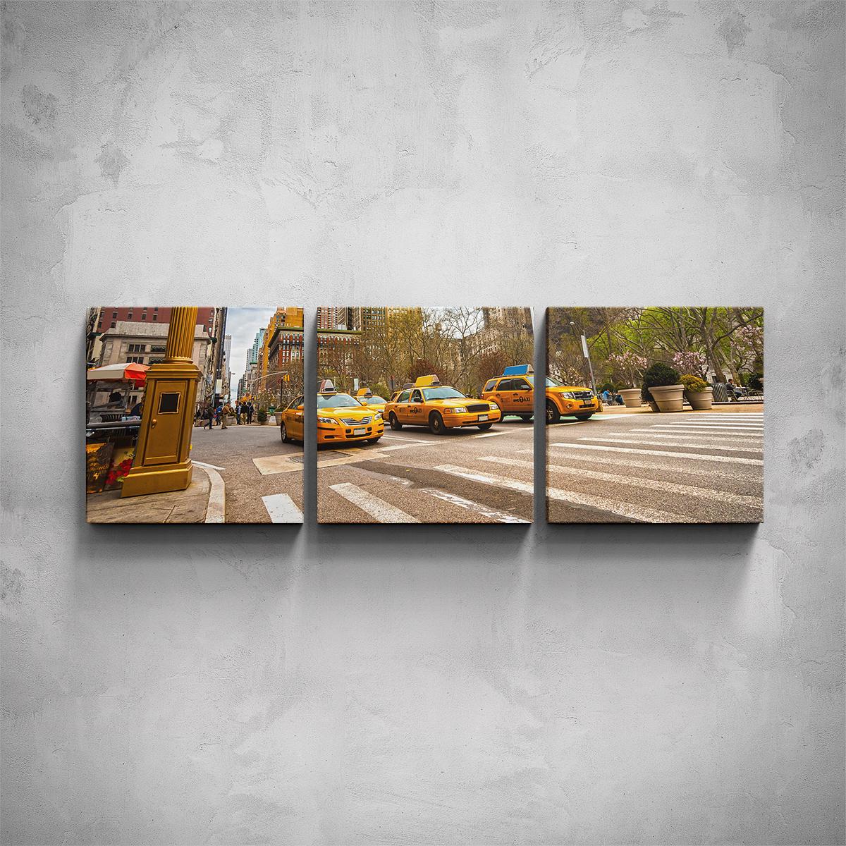 3-dílný obraz - New York taxi - PopyDesign